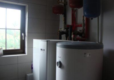 Kaskada pomp ciepła NIBE F1345 2x60kw plus bufor 100l, zasobnik 100l - przedszkole okolice Grodziska Mazowieckiego, 2015 r.