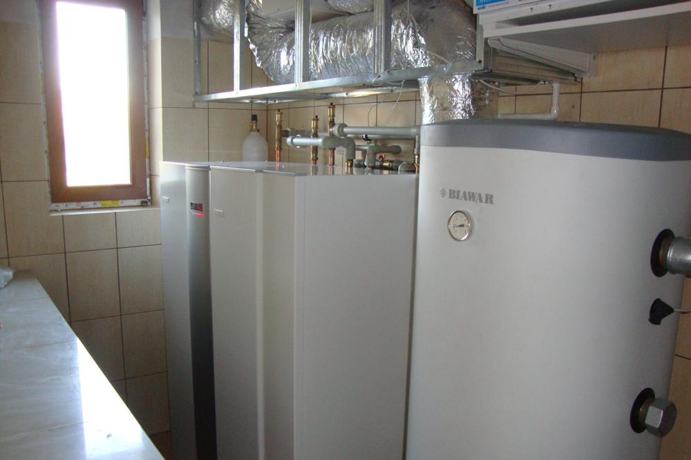 Pompa ciepła NIBE 8kw plus zasobnik CWU i bufor, - okolice Radzymina, 2011 r.