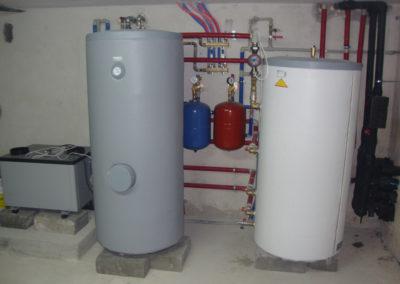 Pompa ciepła powietrze-woda IVT 14 kw plus bufor 300l plus CWU 400l - Strzegowo, 2011r.