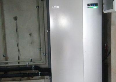 Pompa ciepła NIBE F1245 8kw, modernizacja kotłowni z ekogroszku na pompę ciepła  - Skierdy pod Warszawą, 2016 r.