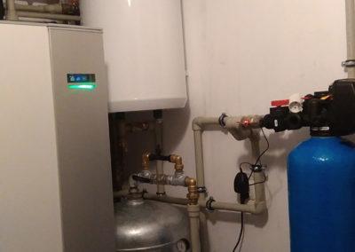 Pompa ciepła NIBE F1245 10kw plus bufor 120l, modernizacja z kotłowni z ekogroszku na pompę ciepła - Wołomin, 2016 r.