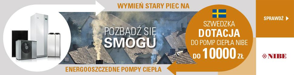 Szwedzka Dotacja do pomp ciepła NIBE do 10 000 zł